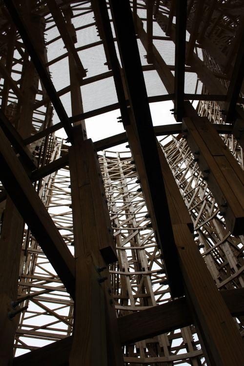 wooden rollercoaster roller coaster truss