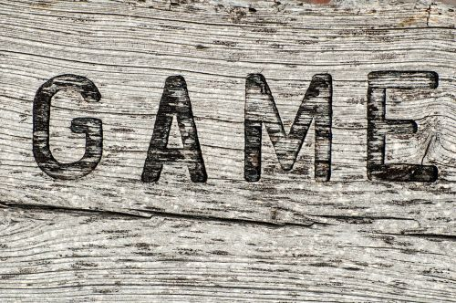 wooden sign game rustic