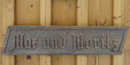 wooden sign fairy tales max and moritz