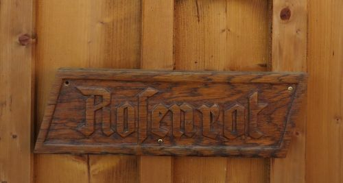 wooden sign fairy tales rose red