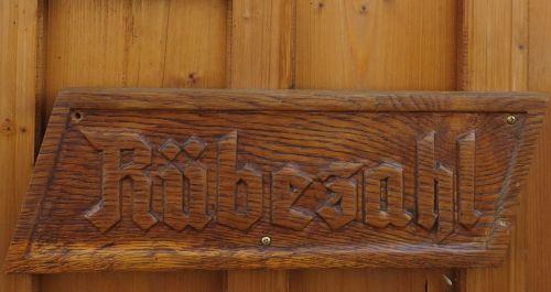 wooden sign fairy tales rübezahl