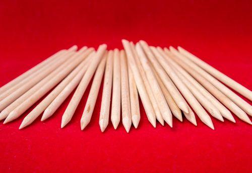 wooden sticks orange sticks manicure
