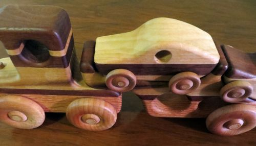 Wooden Toys Cars Trucks