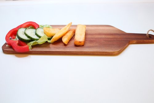 wooden tray  food  wood