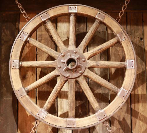 wooden wheel wheel old
