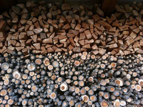 woodpile nature columns