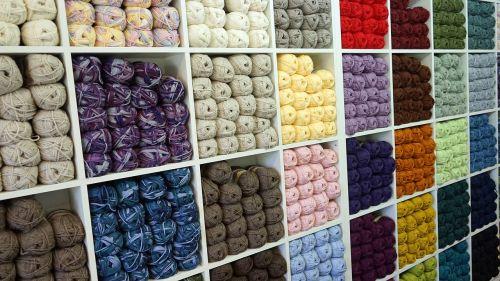 wool shelf retail store