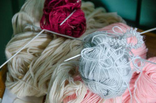 wool knit handicraft