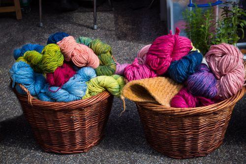 wool cat's cradle hand labor