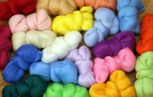 wool  wool czesankowa  colorful