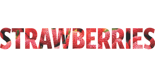 word strawberries picture