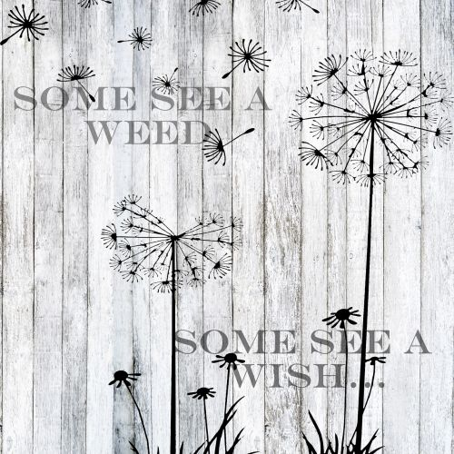 word art dandelion