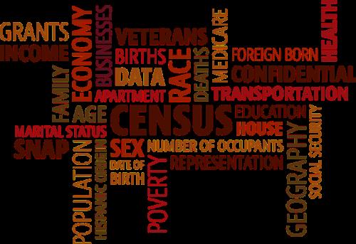 word cloud census population