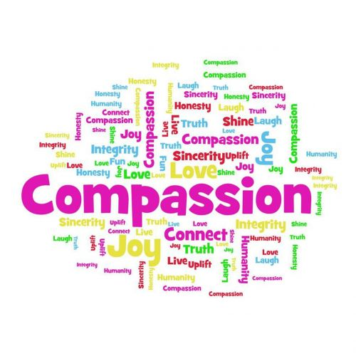 word cloud compassion joy