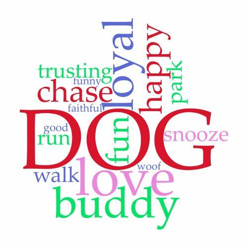 Word Cloud Dog Love