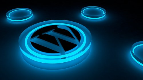 wordpress  logo  glow
