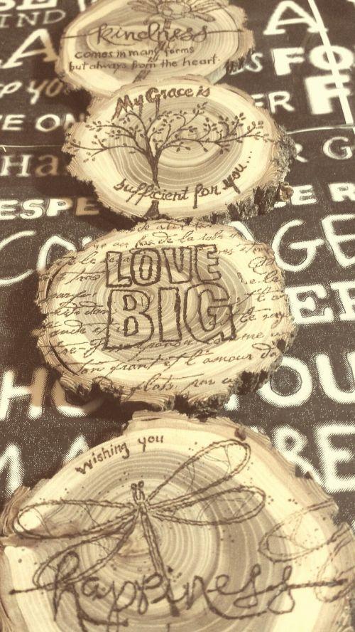 words artwork wood