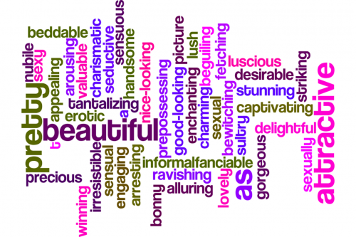 words attractive beautiful