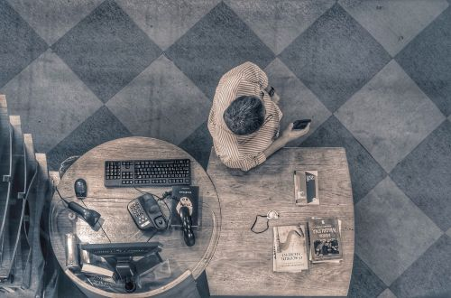 work desk office