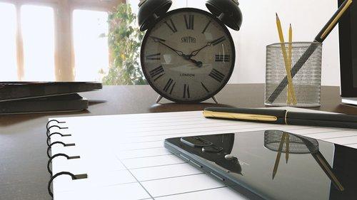 work  mobiles  clock