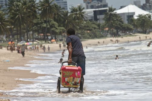 work beach seller