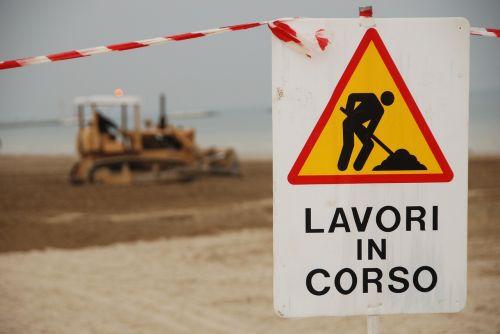 work in progress safety work sand