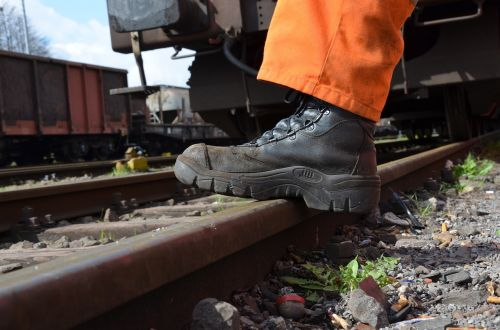 work shoes rail track
