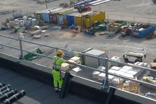 worker industry roof