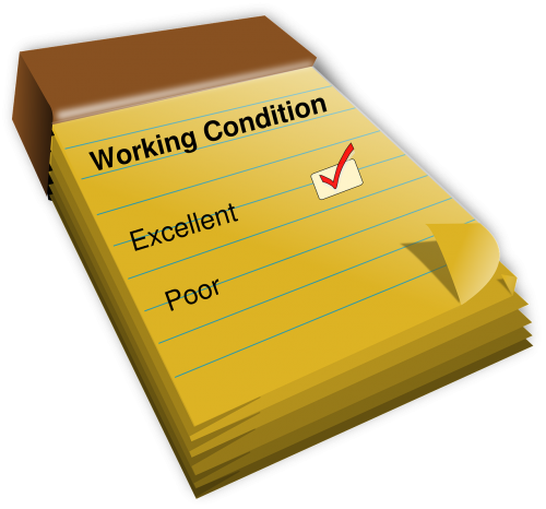 working conditions empoyment rating