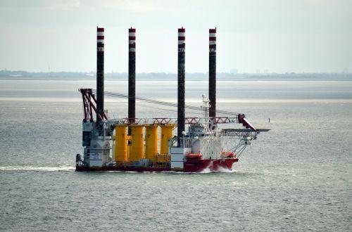 pontoon buhnenbau working ship