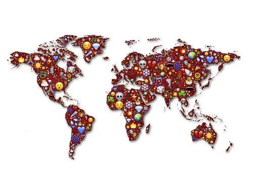 world continents globe
