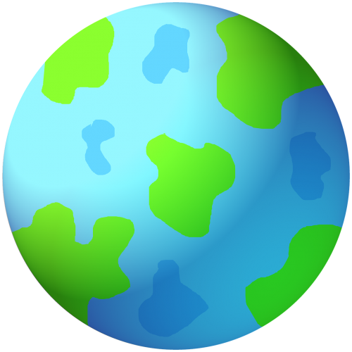 world earth graphic