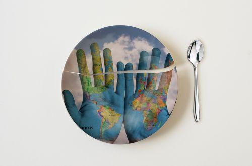 world food broken plate