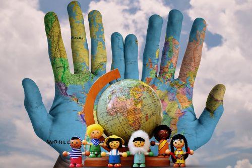world different nationality illustration