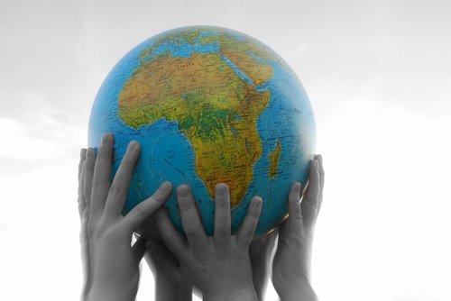 world  hands  finger