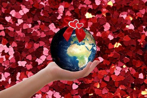 world  hand  heart