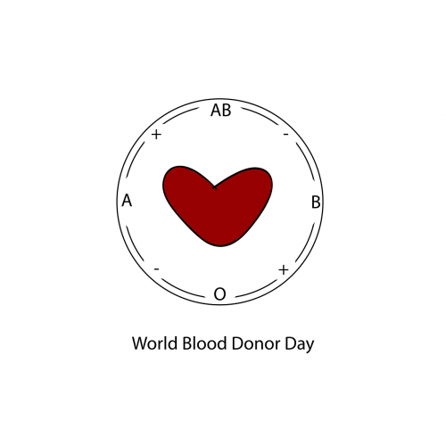 world blood donor day heart blood