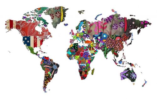world map countries continents