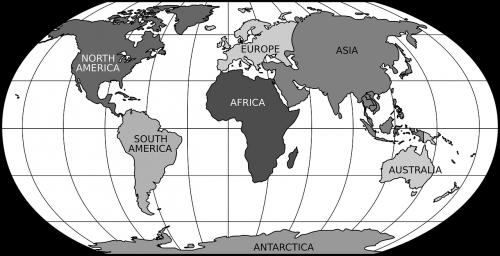 world map robinson projection globe