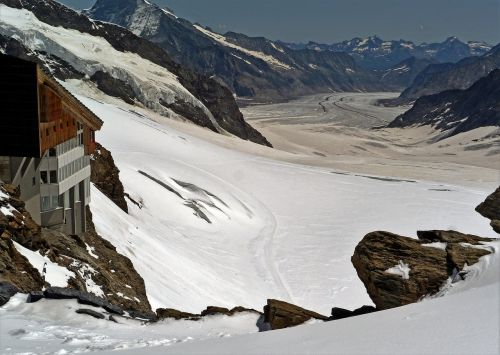 world natural heritage aletsch glacier jungfraujoch