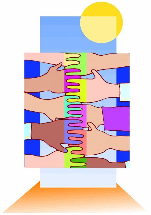 taika, meilė, karas, kratymas & nbsp, rankos, spalvoti & nbsp, žmonės, united, pasaulis, žemė, žmonės, iliustracija, pasaulio taika