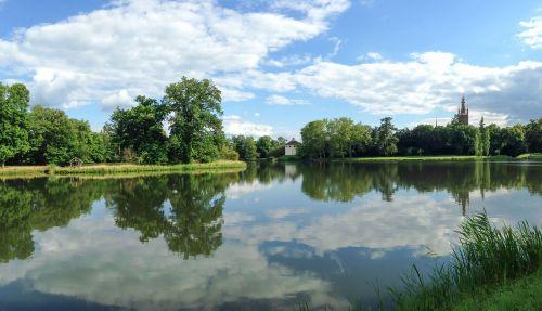 wörlitz park lake