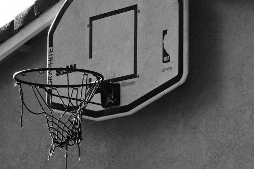 Worn Basketball Hoop