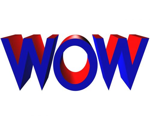 wow letters text