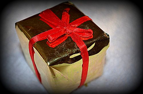 Wrapped Package Ornament
