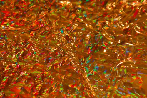 wrapping paper golden sparkling
