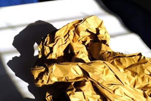 wrapping paper crumpled shading