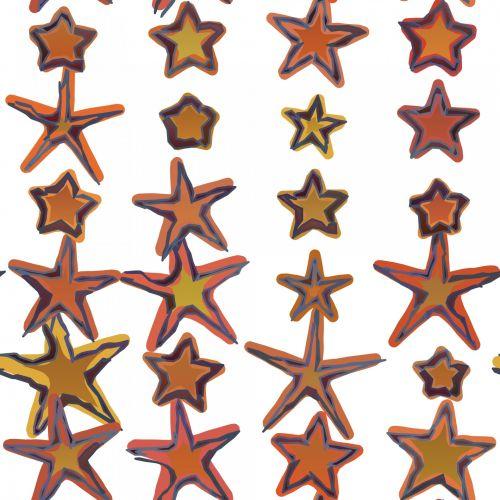 pakavimas, popierius, dažyti, dažytos, žvaigždės, auksas, auksinis, fonas, fonas, balta, vyniojamasis popierius