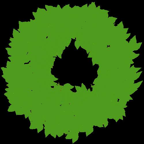 wreath border foliage