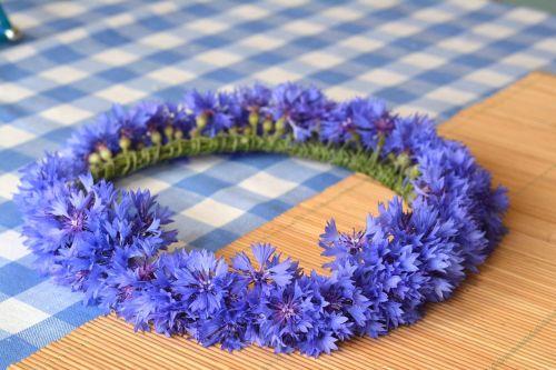 wreath cornflower cornflowers